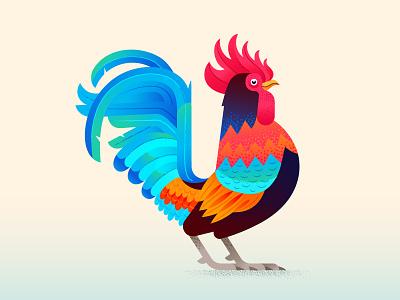 Rooster Illustration blending modes vector brushes texture adobe illustrator illustration illustrator vector farm chicken bird rooster