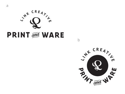 LC Print and Ware Critique identity lettering vector badge logo