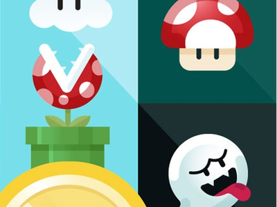 Mario Poster videogames icons nintendo mariobros poster art custom illustrator vector design illustration