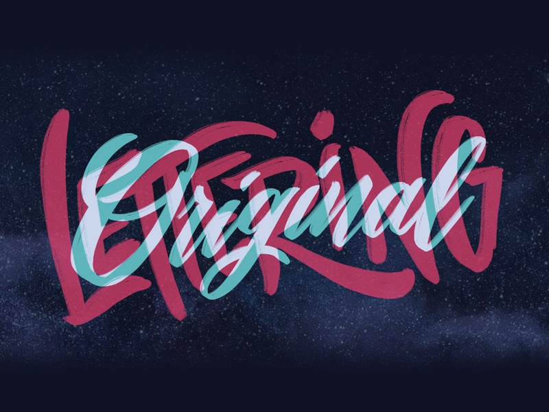 Original Lettering letter art procreate ipad script type hand drawn lettering