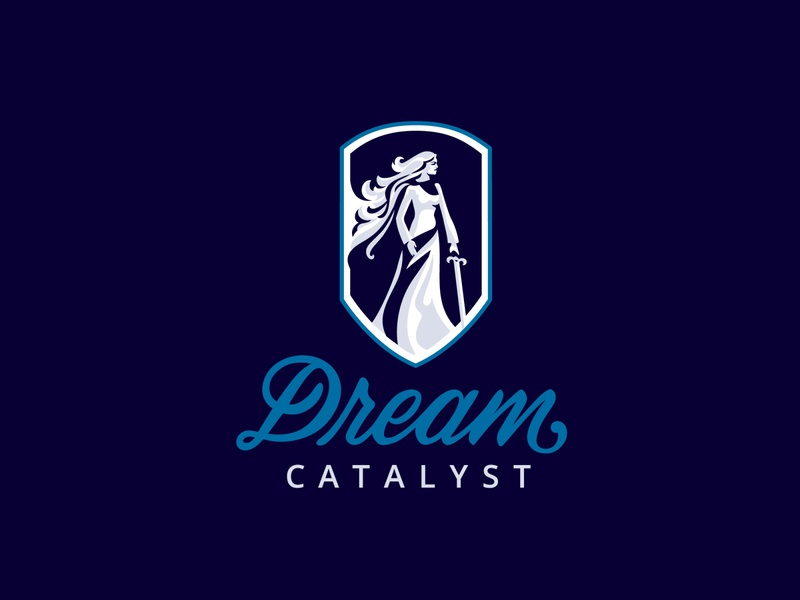 Dream Catalyst Logo type design custom script illustration lettering identity branding vector logo