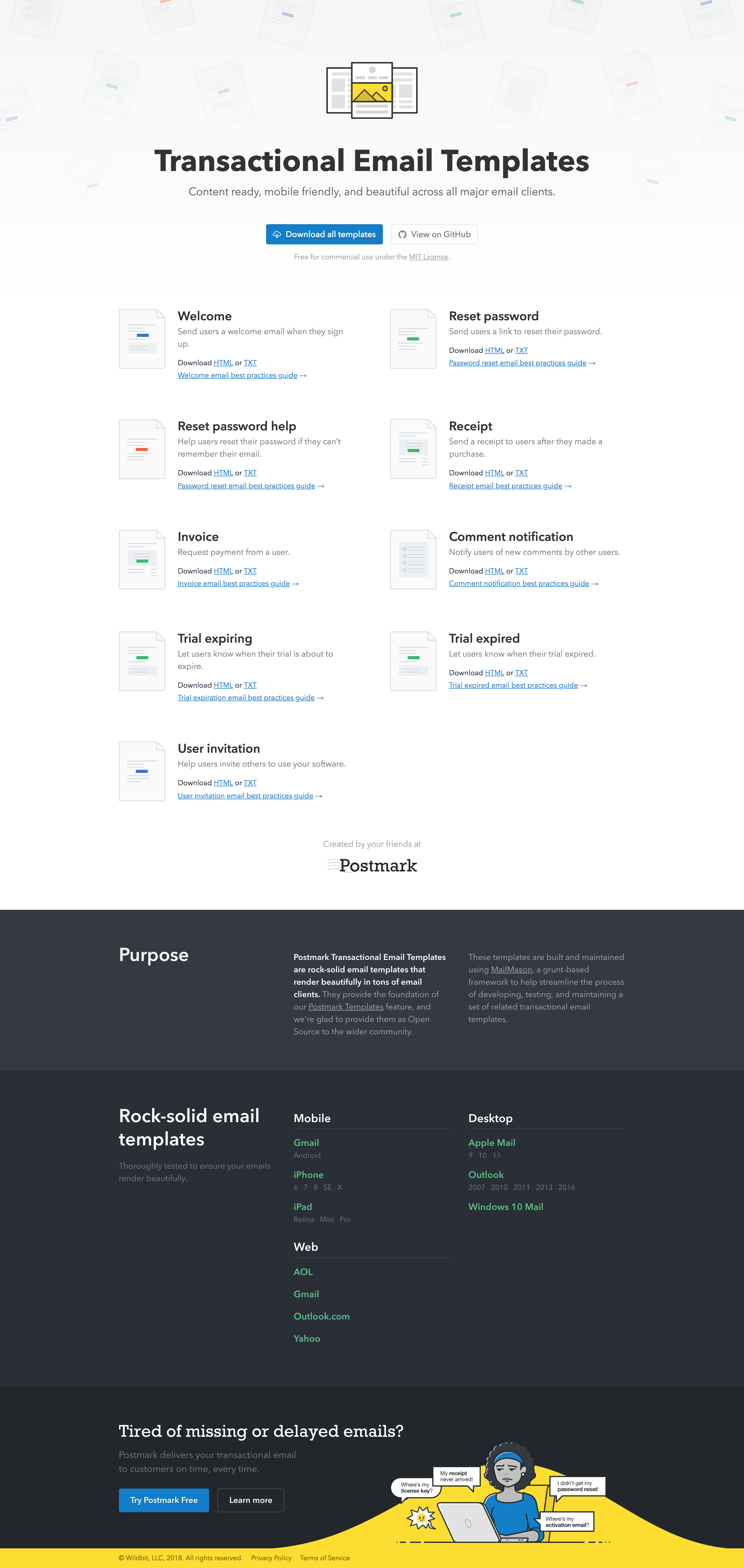 Dribbble Transactional Email Templatesg By Matt West