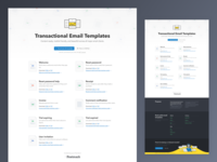 Transactional Email Templates Landing Page