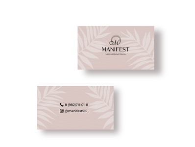 Business card for nailsalon