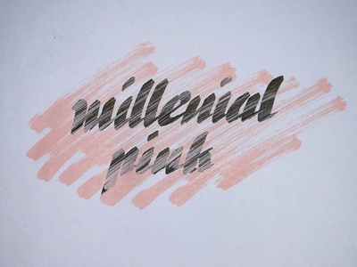Millenial Pink lettering calligraphy handlettering pink millenial pink