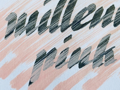 Millenial Pink detail texture brushpen calligraphy handlettering pink millenial pink