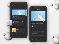 News App UI - Dark