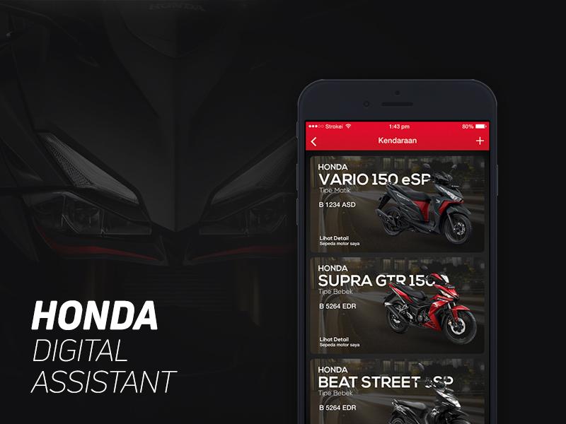 Honda Digital Assistant mobile iphone assistant honda ios app concept designer ux ui