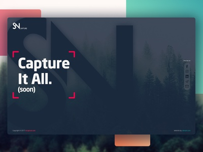 SN Capture Landing Page website page landing ux ui design web