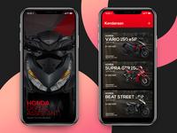 iPhone X - Honda Digital Assistant iphone x design interface mockup app mobile ux ui ios