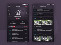 Home Security App design interface app mobile designer ux ui