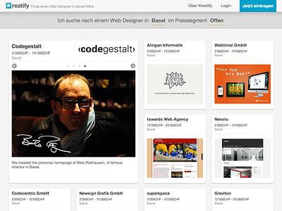 Kreatify webdesign kreatify web designer switzerland directory grid
