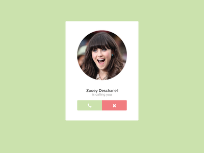 Zooey is calling... flat ui clean and simple red green