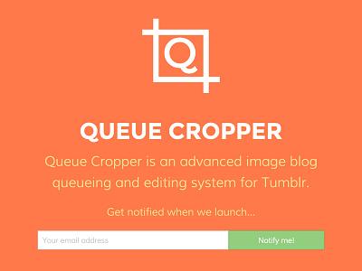 Queue Cropper Landing Page website flat landing page
