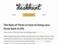 Desk Hunt site design