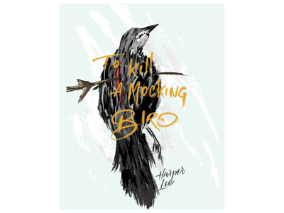 To pimp a butterfly mockingbird bird illustration cover book cover digital painting painting lettering