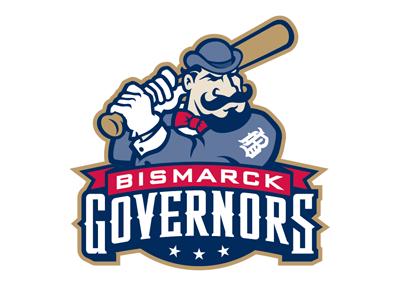 Bismarck Governors Mascot Logo logo baseball governors bismarck