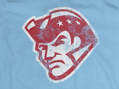 Alternative Patriot – Red on Columbia Blue illustration design patman athleticapparel highschool spiritof76 oldschool columbiablue chscakeeaters rollpats patriots century chs mascot