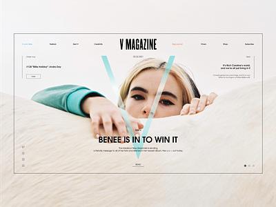 V Magazine – Concept figma site builder site web magazine design fashion ui magazine design clear