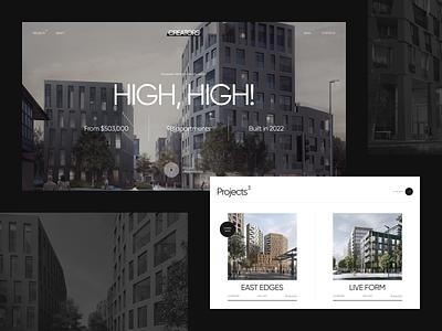 Creators – Concept vector logo white buildings architecture estate black clear design web ui figma