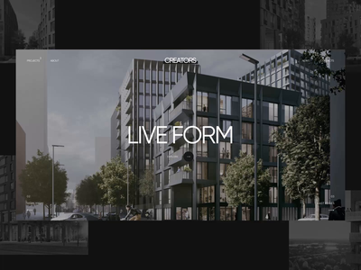 Creators – Motion principle white estate agent animation motion real estate logo design clear black ui web figma