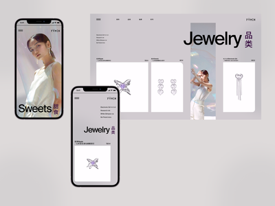 YVMIN cards clean shop jewelry shop ecommerce fashion brand ux jewellery fashion design clear chinese jewelry web ui