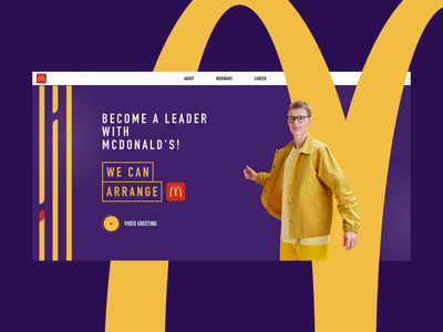 McDonald's Career figma person purple yellow career burger mcdonalds design clear web ui