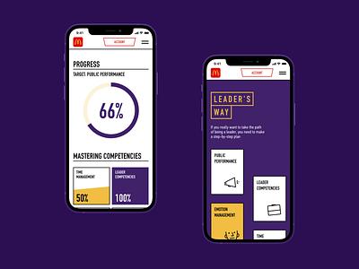 McDonald's Career Mobile minimalistic clean uiux ux career service purple yellow dashboard mcdonalds design ui web