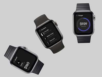 E_Wallet – Watch dark app application ux bitcoin watchlist cryptowallet e-wallet wallet watch mobile clean black figma design ui