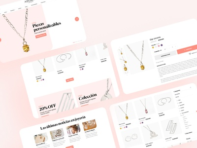 Jewelry Website interface web design ui jewelry ecommerce website