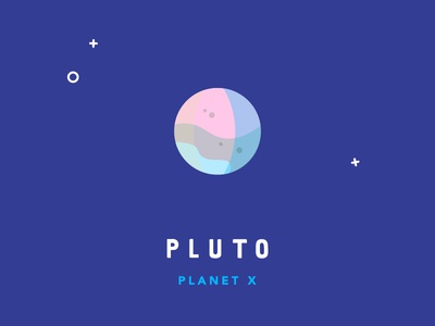 Planet Series: Pluto moons icon flat illustration space pluto solar system planets