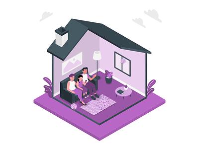 Stay at home Flat art animation free gif download art ux vector minimal animation ui illustration flat design branding