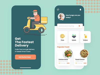 Food Delivery App Design Concept food delivery application trending food delivery app food app dribbble best shot dribbble app best design 2020 trend illustration branding minimal design ux ui