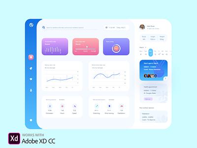 Clinic dashboard UI Design dashboard clean