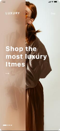 Luxury e commerce shopping app ui design 281496 296669