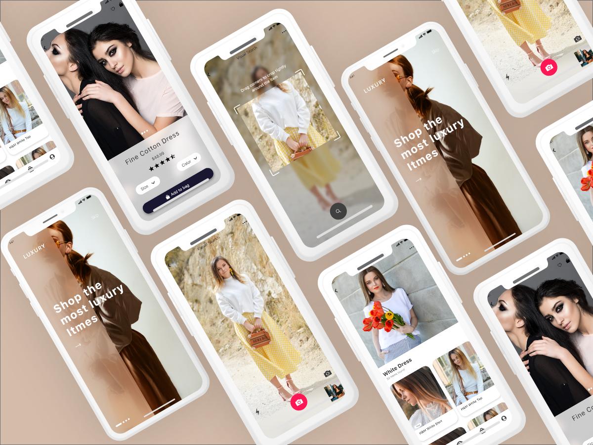 Luxury e commerce shopping app ui design 281496