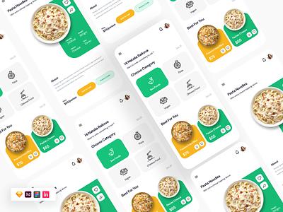 Food Ordering App UI app design user interface freebie free uikit ux ui delivery app delivery food app food