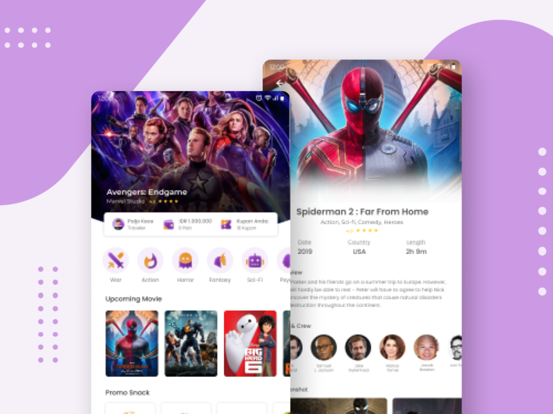 MOVIX - Cinema Ticket Booking App ux ui design flutter javascript coding app android studio android design android app design android app