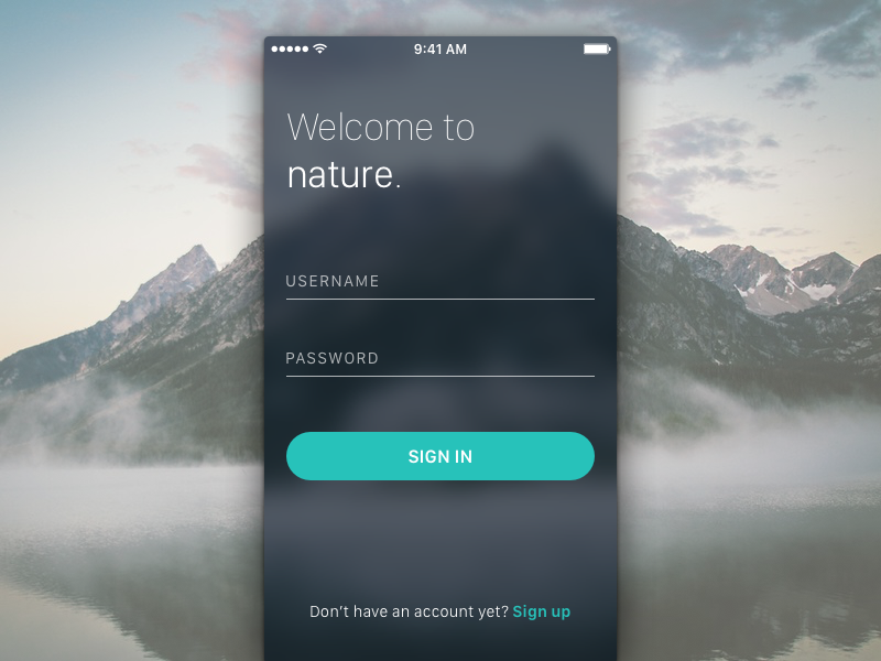 Dribbble signup