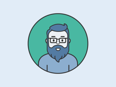 Personal Avatar 2017 glasses beard vector icon illustration character avatar