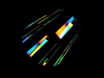 Magic Glass 4k wallpaper merittthomas meritt magical spectrum colorful abstract reflection colors color rainbow cinema4d redshift 3d render glass magic