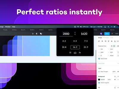 Sizey: Perfect Ratios Instantly macos toolbar calculate meritt thomas merittthomas meritt gradient design tool app mac app store golden ratio ratios aspect ratio aspect calculator sizeyapp sizey app sizey