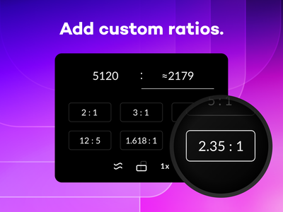 Sizey: Custom Ratios ui meritt merittthomas sizey sizey app mac macos app store aspect ratio ratio calculator ratio calculator golden ratio geometry app app design meritt thomas calculate custom ratio