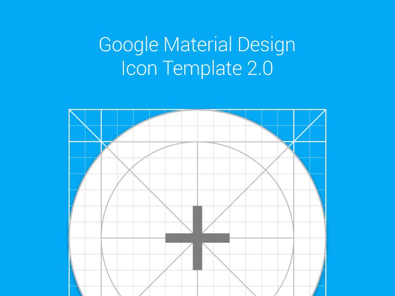 Material Design Icon Template (.AI + .Sketch) resource icon iconography google material grid freebie free template illustrator meritt merittthomas