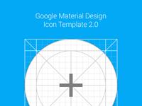 Material Design Icon Template (.AI + .Sketch)