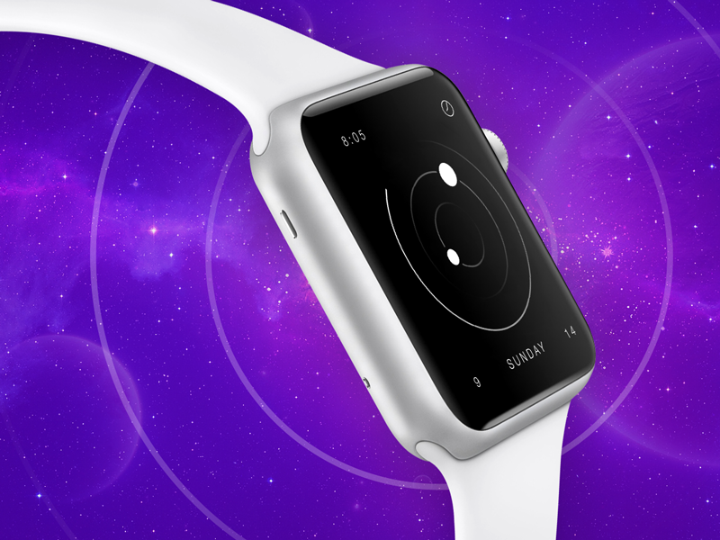 Frontier - Apple Watch Clock Face frontier apple watch clock face skin space minimal meritt merittthomas