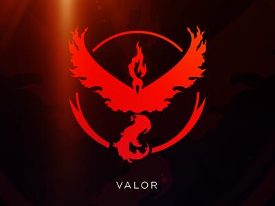 Valor: Pokemon GO Team Logo [Vector Download] download freebie free vector instinct mystic valor team teams pokemon pokemon go