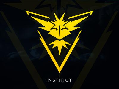 Instinct: Pokemon GO Team Logo [Vector Download] download freebie free vector instinct mystic valor team teams pokemon pokemon go