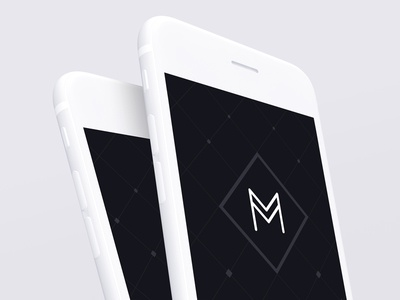 Monochrome - Minimal Mockups minimal monochrome iphone mockup mockups psd white black device meritt merittthomas