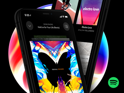 Spotify UI merittthomas meritt spotify oled black color app ux ui dark iphone x iphone 8